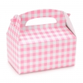 Pink Gingham Check Empty Favor Boxes (4)